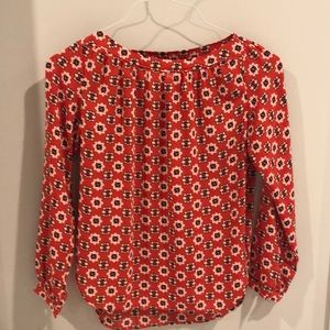 LOFT Red Blouse.